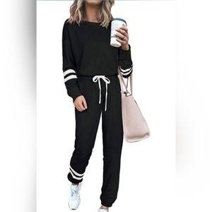 2 Pieces Long Sleeve Loungewear Sweatsuit